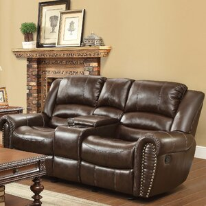 Medici Leather Reclining Sofa by Astoria Grand