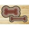 Earth Rugs Burgundy/Gray/Creme Dog Bone Shaped Rug