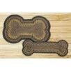 Earth Rugs Brown/Black/Charcoal Dog Bone Shaped Rug