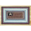 Earth Rugs Flag Rectangle Red/Blue Patch Area Rug