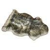 Bowron Sheepskin Long Wool Gold Star Grey Area Rug