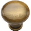 Heritage Brass Mushroom Knob