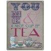 Red Hot Lemon You, Me, Tea Vintage Advertisement Plaque