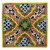 Native Trails, Inc. Apricot Hand Painted Tile - 4x4 Tile