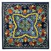 """Native Trails, Inc. Quatrefoil 6"""" x 6"""" Hand Painted Talavera Tile"""