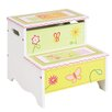 Guidecraft Gleeful Bugs Kids Step Stool with Storage