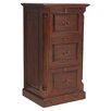 Baumhaus La Roque Mahogany 3-Drawer Vertical Filing Cabinet