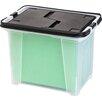 IRIS USA, Inc. Portable Wing Lid File Box (Set of 4)