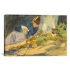 iCanvas Woman Reading a Book in Nature Painting Print on Wrapped Canvas