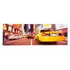 iCanvas Panoramic Traffic on the Road, Times Square, Manhattan, New York City, New York State Photographic Print on Wrapped Canvas