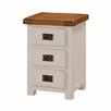 Homestead Living Fertos 3 Drawer Bedside Table