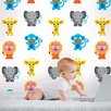Wallies Murals & Cutouts French Bull Jungle Wall Stickers