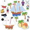 Wallies Murals & Cutouts 2 Piece Pirates Wall Sticker Set