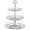 All Home 3 Tier Clear Glass Cake Stand