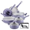 Farberware New Traditions 12 Piece Speckled Aluminum Nonstick Cookware Set