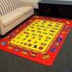 DonnieAnn Company Paradise Alphabets Train Red Indoor Area Rug