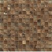 """Bedrosians Interlude 0.75"""" x 0.75"""" Stone and Glass MosaicTile in Duet"""