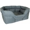 P & L Superior Pet Beds Country Dog Heavy Duty Rectangular Softee Bed in Grey