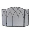 Pleasant Hearth Gothic 3 Panel Steel Fireplace Screen