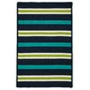 Colonial Mills Painter Stripe Navy Waves Indoor/Outdoor Area Rug