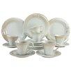 Creatable Soft Porcelain 18 Piece Dinnerware Set, Service for 6