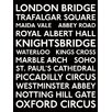 Art Group London Bus Blinds Typography Plaque