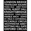 Art Group Transport for London - London Transport Bus Blind Typography Canvas Wall Art