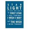 Artist Lane Star Light Star Bright by Nursery Canvas Art in Teal