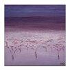 Artist Lane Morning Frost by Karen Hopkins Art Print Wrapped on Canvas in Purple