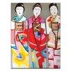 Artist Lane 3 Geisha by Anna Blatman Art Print on Canvas
