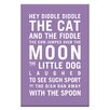Artist Lane Hey Diddle Diddle by Nursery Canvas Art in Purple