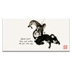 Artist Lane East Asian Mashup REV by Steve Leadbeater Graphic Art Wrapped on Canvas in Black/Ivory