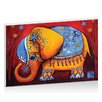 Artist Lane The Littlest Elephant by Karin Taylor Art Print Wrapped on Canvas