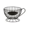 Laurel Foundry Modern Farmhouse Ellendale Metal Coffee Cup Keeper Fruit Basket