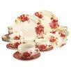 Creatable Stoneware Passion Blossom 30 Piece Dinnerware Set, Service for 6