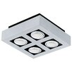 Eglo Loke 4 Light Flush Mount