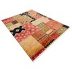 Parwis Ferrara Hand-Knotted Red Rug