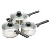 Kitchen Craft Jury 3 Piece Stainless Steel Cookware Set