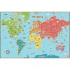 Wallpops! Kid's World Dry Erase Map Wall Stickers