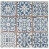 "EliteTile Faventie Azul 13"" x 13"" Ceramic Patterned/Field Tile in Blue"