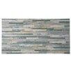 "EliteTile Muro Arriba 12.5"" x 24.5"" Porcelain Splitface Tile in Gray"