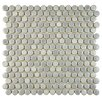 """Penny 0.8"""" x 0.8"""" Porcelain Mosaic Tile in Glossy Gray"""