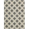 Nourison Linear Hand-Loomed Grey Area Rug
