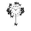 All Home Pendulum Flower Butterflies Wall Clock