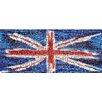 RareArtStudios Union Jack Splat Rectangular Mosaic Limited Edition Framed Graphic Art
