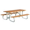 Frog Furnishings Recycled Plastic Galvanized Picnic Table