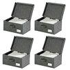 Wenko Liberta Fabric Storage Box (Set of 4)