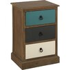 Pacific Lifestyle Hanson 3 Drawer Bedside Table