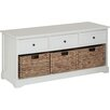 All Home Wood Storage Hallway Bench