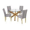 LPD Oporto Lorenzo Dining Table and 4 Chairs